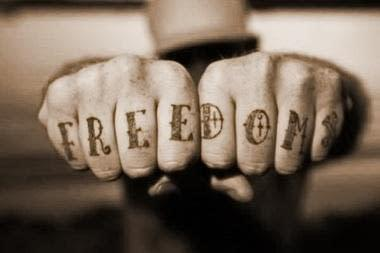 Freedom Tat Hands SMALL