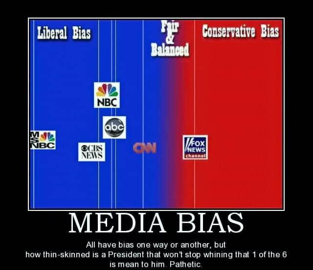 Bias - CBS NBC MSNBC FOX Media