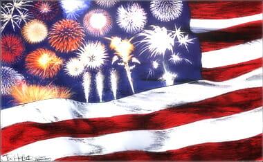 Old Glory Flag Fireworks 380