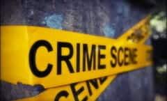 Crime Scene Police Gun Killing