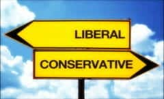 left right sign liberal conservative democrat republican