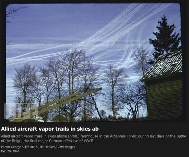 Allied-aircraft-vapor-trails-in-skies-ab-LIFE-1