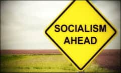 Caution Sign - Socialism Ahead