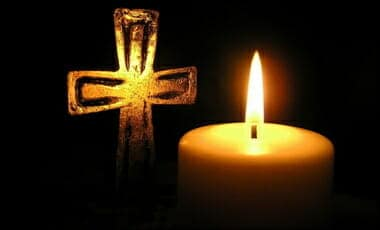 golden-cross-and-candle- rip tribute r.i.p.